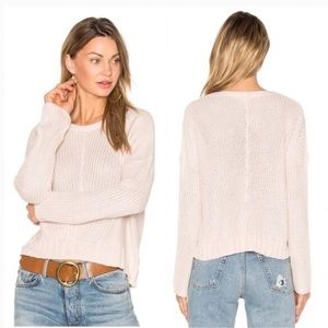 Rails Elsa Blush Pink Ribbed Pullover Sweater L